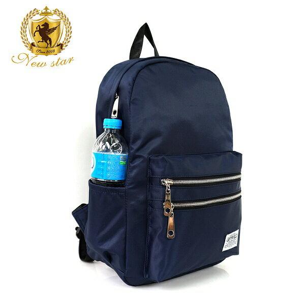 日系簡約防水撞色拉鍊口袋後背包包 NEW STAR BK242 9