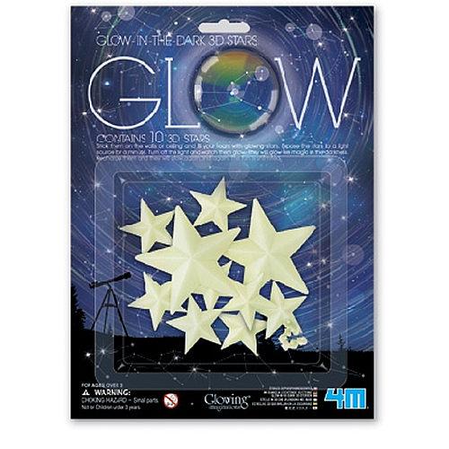 【4M 創意 DIY 】Glow 3D Stars 3D 立體螢光星星