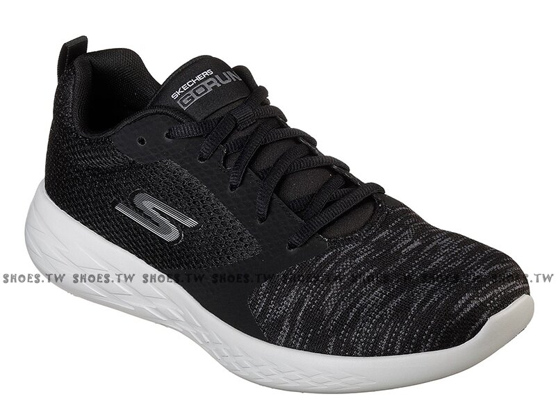 Shoestw【55081BKGY】SKECHERS GO RUN 600 慢跑鞋 瑜珈鞋墊 雪花黑 網布 男生尺寸 1