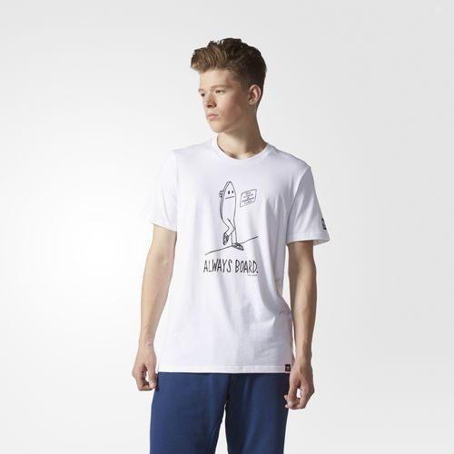 ADIDAS ORIGINALS ALWAYS BOARD GRAPHIC TEE 男裝 短袖 上衣 休閒 舒適 白 黑 【運動世界】 BJ8696