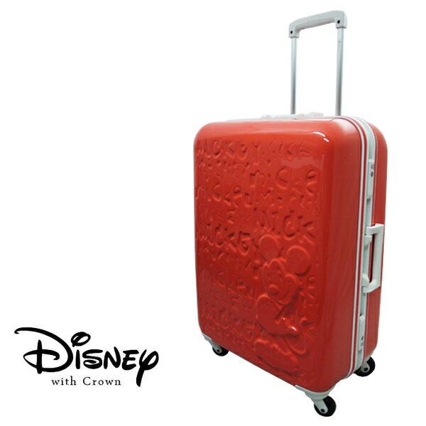 加賀皮件 CROWN Disney 夢想米奇 25吋白框亮面浮雕 多色 拉桿旅行箱 行李箱 登機箱 CF5036