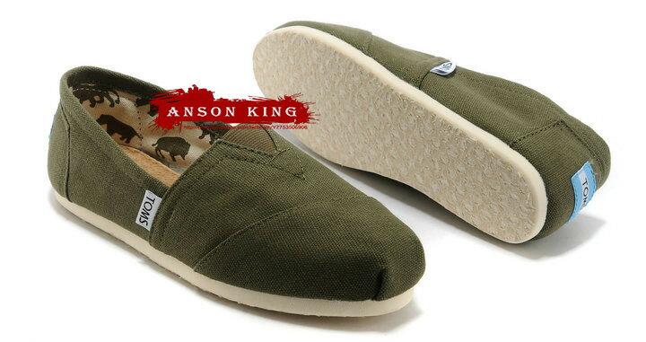 [男款] 國外代購TOMS 帆布鞋/懶人鞋/休閒鞋/至尊鞋 帆布系列  軍綠 0