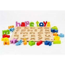 【免運費】《 德國 Hape 愛傑卡》 abc 小寫立體木拼圖