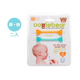 【淘氣寶寶】美國Oogiebear-QQ熊耳鼻清潔棒(黃綠2入組)【專業醫師把關,國外媽咪大推薦】