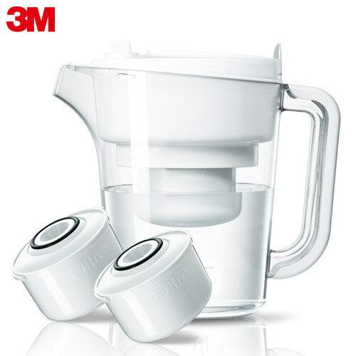 【3M】即淨長效濾水壺-經典白(1壺2濾心)