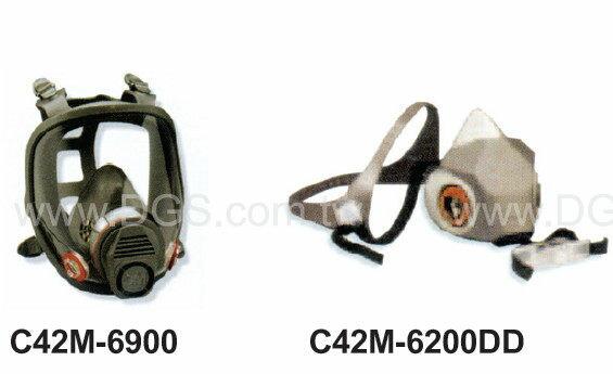 《3M》防毒口罩/面具 (不附濾毒罐)Gaz Mask