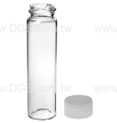 《美製》螺蓋樣本瓶 白蓋PTFE墊片 Vail, Sample, Screw Thread, PTFE Lined Closure
