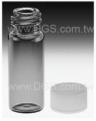 《美製》茶色螺蓋樣本瓶 白蓋PTFE墊片 Vial, Sample, Screw Thread, Amber, PTFE Lined Closure