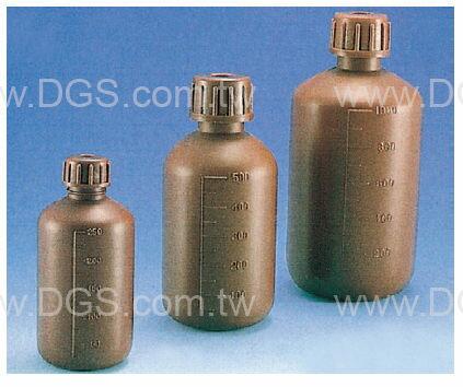 《台製》塑膠細口瓶 Bottle, Narrow-Neck, Amber, PE, Graduated