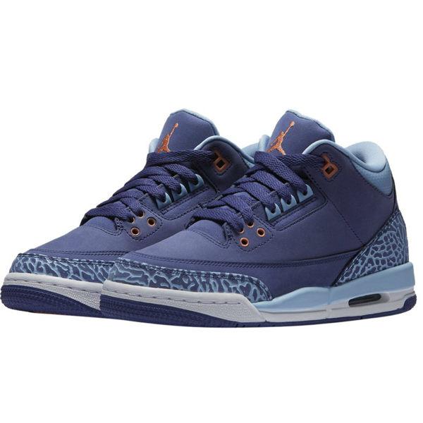 NIKE AIR JORDAN 3 RETRO GG 喬丹 女鞋 籃球鞋 爆裂紋 藍 紫 【運動世界】 441140-506
