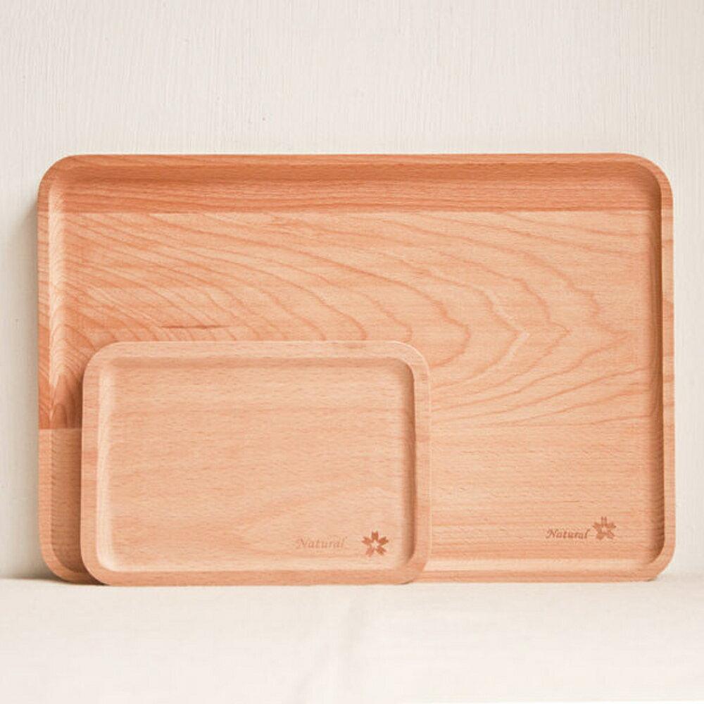 ✤宜家✤方形櫸木 點心盤 麵包盤 實木無漆果盤 ( 小)