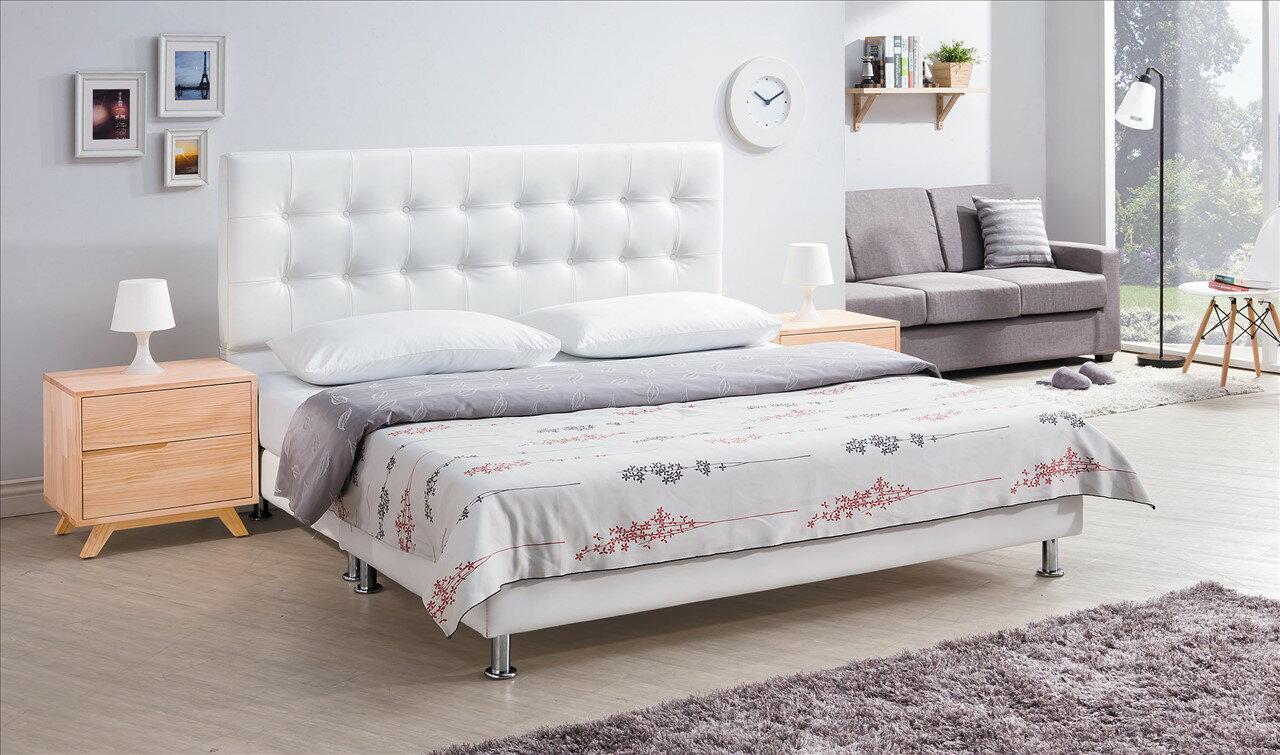 【石川家居】CE-195-07 米特白色5尺床頭片 (不含床底與其他商品) 需搭配車趟