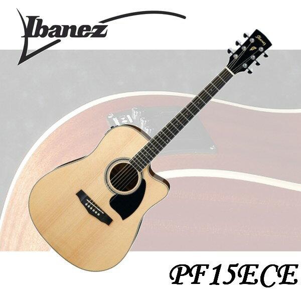 【非凡樂器】Ibanez PF15ECE 電木吉他 原木色 專業規格/高品質/絕佳音質