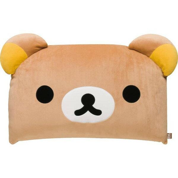 【真愛日本】17030200027方形枕頭M-懶熊大臉咖  SAN-X 懶懶熊 拉拉熊 枕頭 靠枕 正版