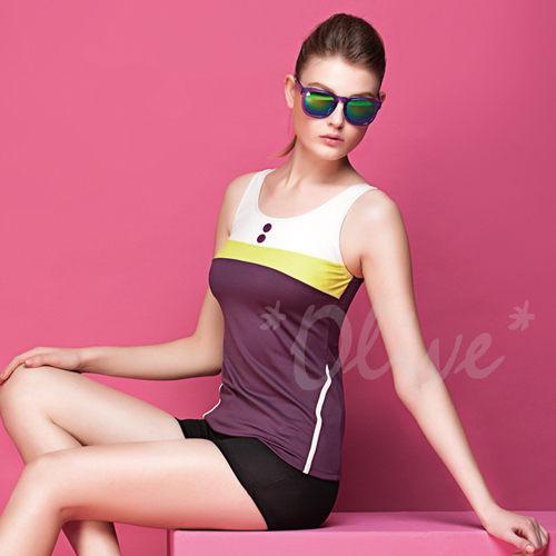 ☆小薇的店☆蘋果牌亮色拼接風格時尚二件式泳裝特價780元NO.105499(M-XL)