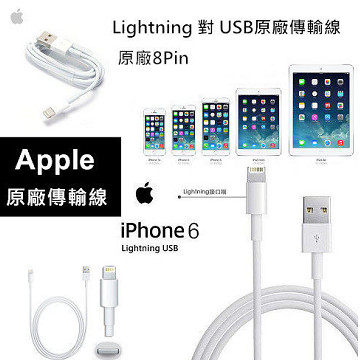 【YUI】APPLE Lightning 8pin UBS FOR: iPad 4 Air Mini Retina Nano 7 touch 5 原廠傳輸線 100CM (裸裝)