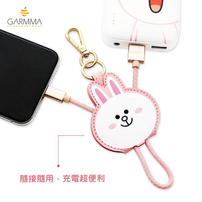 GARMMA LINE Friends Apple Lightning皮革吊飾傳輸線(熊大 / 兔兔 / Kitty / 熊美) 4