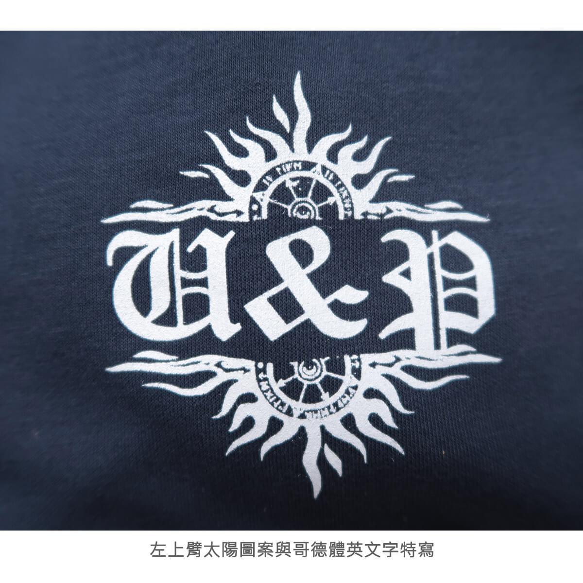 加大尺碼台灣製長袖T恤 哥德體英文字彈性圓領T恤 T-shirt 長袖上衣 休閒長TEE 藍色T恤 黑色T恤 MADE IN TAIWAN NAVY BLUE BIG_AND_TALL (310-0860-08)海軍藍、(310-0860-21)黑色 4L 6L(胸圍52~57英吋) [實體店面保障] sun-e 7