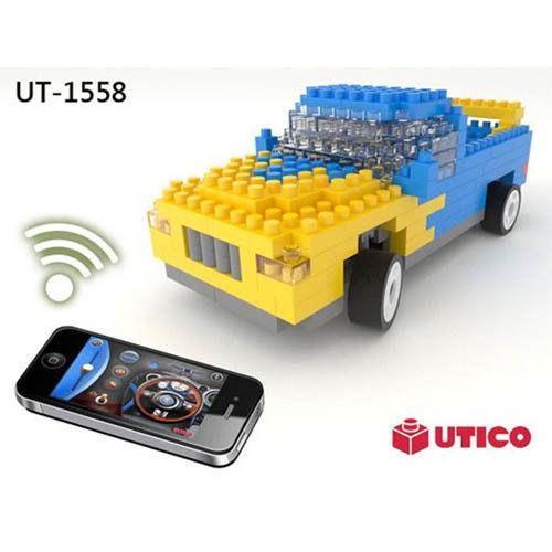 【UTICO微型積木】智慧手機遙控積木車-Truck 卡車 1558
