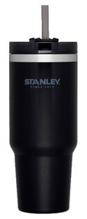 【Stanley美國】冒險系列吸管隨手杯304不鏽鋼杯冰霸杯保溫杯保冰杯黑色/10-02663【880ml】