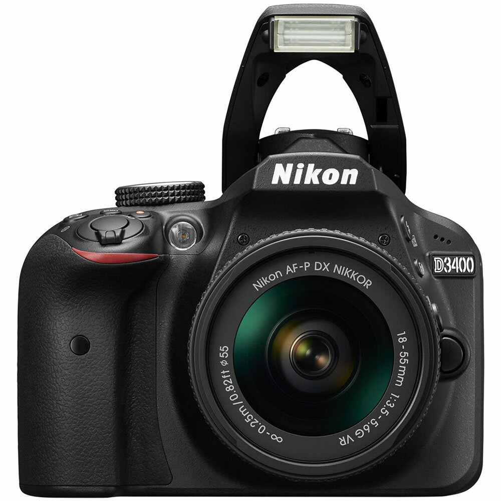 Nikon D3400 24.2MP Digital SLR Camera w/ AF-P 18-55mm VR & 70-300mm Dual Zoom Lens Kit 2