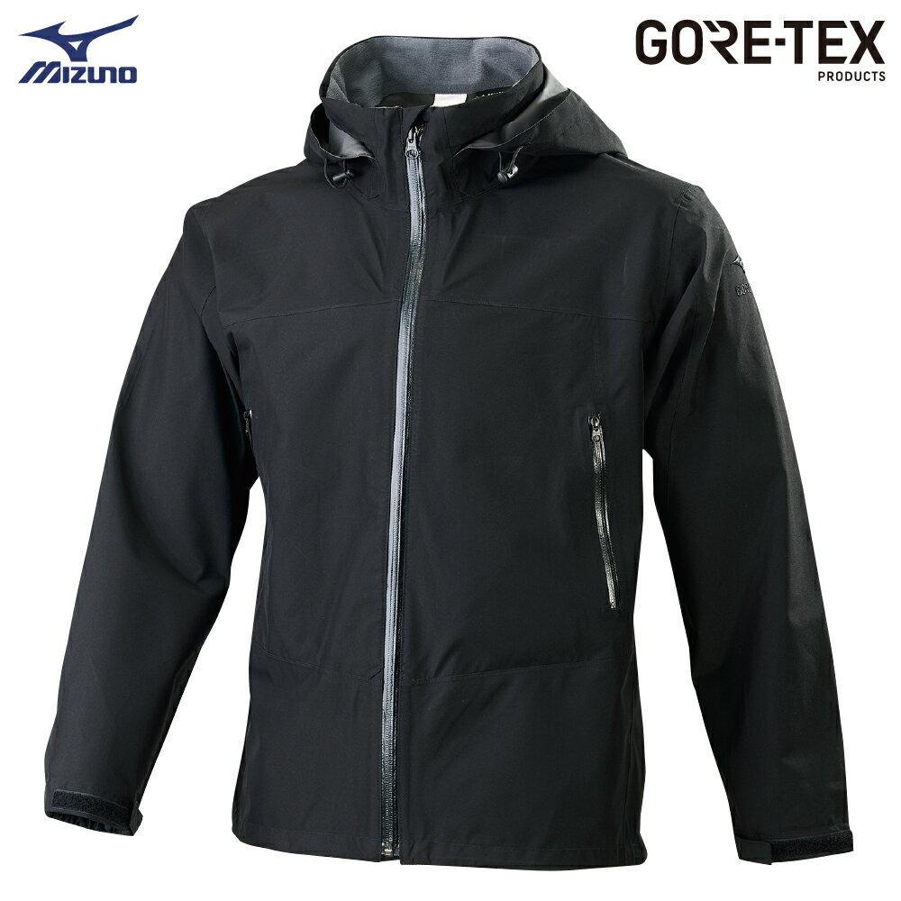 男款單層GORE-TEX防水透氣外套 B2JE9W1009(黑)【美津濃MIZUNO】 0