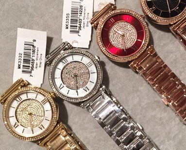 美國Outlet正品代購 MichaelKors MK 復古羅馬滿天星貝殼面鑲鑽金色    手錶 腕錶 MK3332 6