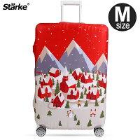 送家人聖誕交換禮物推薦聖誕禮物行李箱/袋到E&J【015002-07】Starke 高彈性行李箱套 -北歐村莊(M);適用適用23-26吋/防塵套/行李箱保護套就在旅人驛站推薦送家人聖誕交換禮物