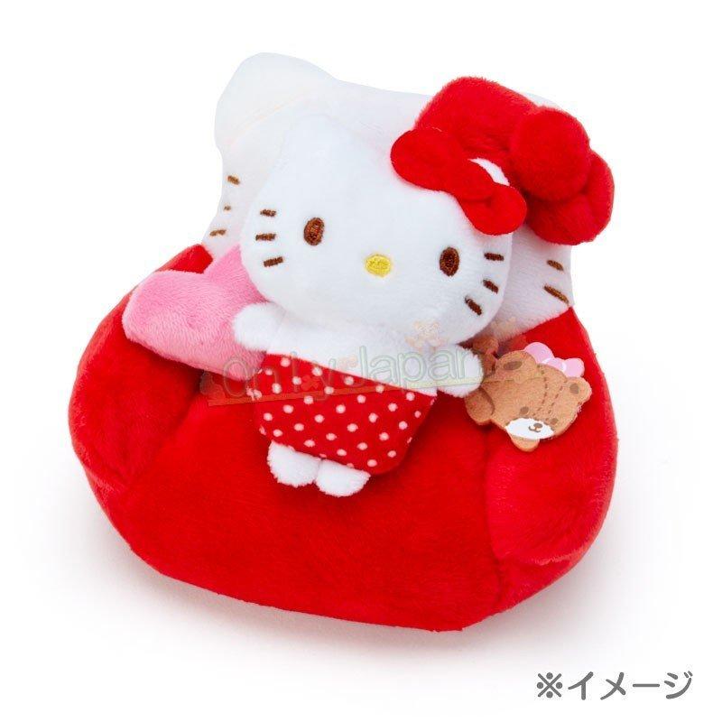 【真愛日本】4901610302804 絨毛手玉娃-KT紅ED91 凱蒂貓kitty 絨毛娃 手玉娃 娃娃 布偶 擺飾 收藏 禮物 5