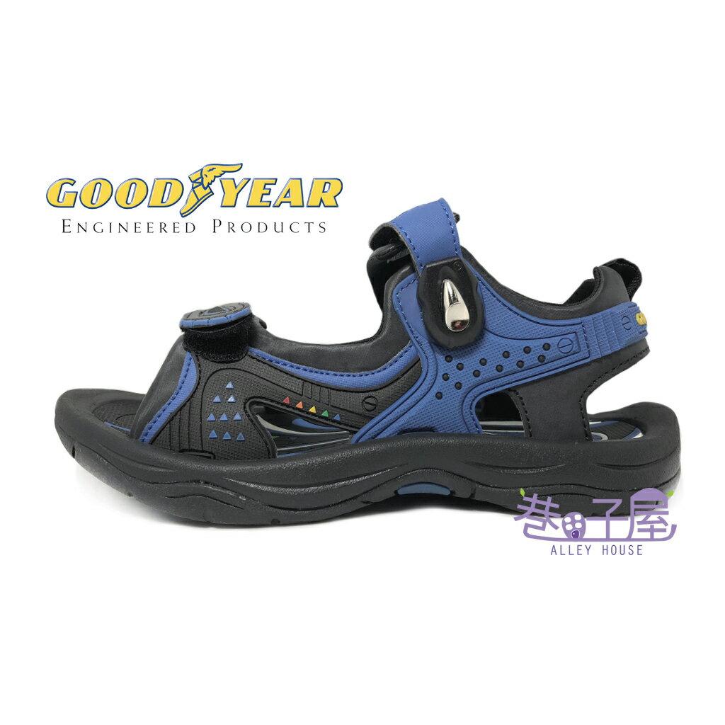 【巷子屋】GOODYEAR固特異 男款多功能磁扣戶外運動涼鞋 [63616] 藍 超值價$398