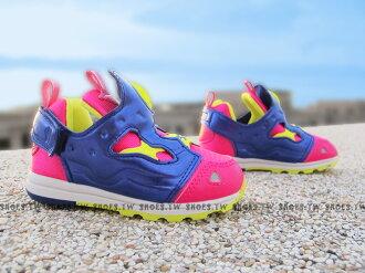 Shoestw【AR0715】Reebok Pump Fury 小童鞋 桃紅紫 襪套 黏帶 小童