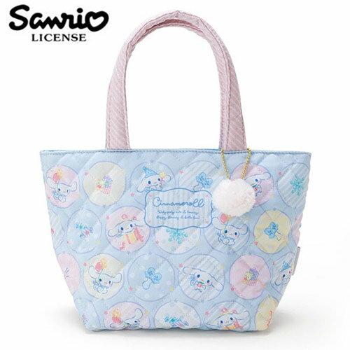 <br/><br/>  【日本正版】大耳狗 菱格紋 手提袋 便當袋 喜拿 Cinnamoroll 三麗鷗 Sanrio - 431092<br/><br/>