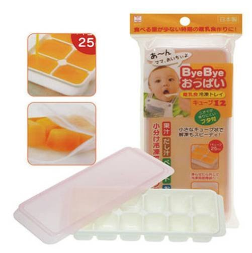 Baby Joy World-日本良品寶寶母乳離乳食品冷凍盒12格25ml 【副食品冰磚保存冷凍盒】