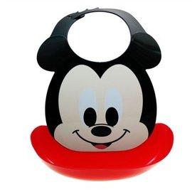 【日本AKACHAN阿卡將】二合一造型可拆式立體防水圍兜-Mickey米奇