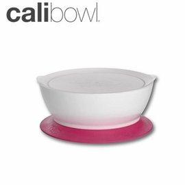 兒童餐具-Baby Joy World-【美國 Calibowl】專利防漏防滑幼兒學習吸盤碗 12oz 附碗蓋 單入裝-粉紅