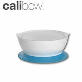 兒童餐具-Baby Joy World-【美國 Calibowl】專利防漏防滑幼兒學習吸盤碗 12oz 附碗蓋 單入裝-藍色