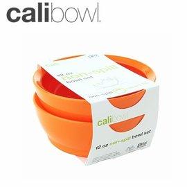 兒童餐具-Baby Joy World-【美國 Calibowl】專利防漏防滑幼兒學習吸盤碗 12oz 2入裝-橘色