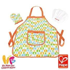 Baby Joy World-德國Hape educo愛傑卡【角色扮演廚房系列】-主廚圍裙套裝