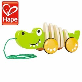 Baby Joy World~德國Hape educo愛傑卡鱷魚拉車^(知名部落客 款~超
