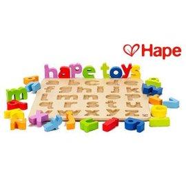 Baby Joy World-【德國Hape愛傑卡】abc小寫立體木拼圖
