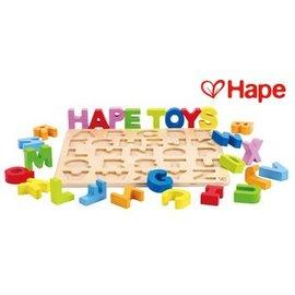 Baby Joy World-【德國Hape愛傑卡】ABC大寫立體木拼圖