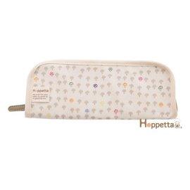 餐具收納袋-Baby Joy World-【日本Hoppetta】蘑菇餐具袋(米白) #689715