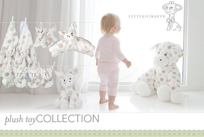 玩偶枕頭午睡枕-Baby Joy World-【美國Little Giraffe】〈Little G系列〉彩色點點長頸鹿玩偶枕-粉紅(LXDPSGPK)
