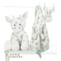 彌月禮盒推薦玩偶枕頭安撫巾-Baby Joy World-【美國Little Giraffe】〈Little G系列〉長頸鹿嬰兒安撫娃娃彌月禮套組-灰綠色(LXDPRBCE)