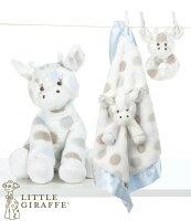 彌月禮盒推薦玩偶枕頭安撫巾-Baby Joy World-【美國Little Giraffe】〈Little G系列〉長頸鹿嬰兒安撫娃娃彌月禮套組-藍色(LXDPRBBL)