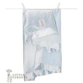 嬰兒毯-Baby Joy World-【美國Little Giraffe】〈天鵝絨豪華系列〉天鵝絨豪華嬰兒毯嬰兒被-藍色(VLSSBKTBL)