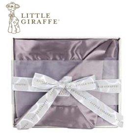 美國Little Giraffe〈天鵝絨豪華系列〉天鵝絨豪華嬰兒毯棉被禮盒組-薰衣草(VLSSBKTLV)