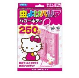 日本製造原裝 Hello Kitty 長效型精油驅蚊防蚊掛勾式防蚊蟲片(內附掛勾) 可用250日 屋內屋外都可用