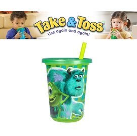 Baby Joy World-美國 【The First Year】Take & Toss 防漏學習杯10oz 3入/組-怪獸大學