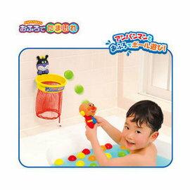 洗澡玩具-Baby Joy World-日本Anpanman麵包超人浴室射擊發球投籃遊戲玩具